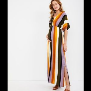 Lisa & Lucy Multi Stripe Maxi Maternity Dress.